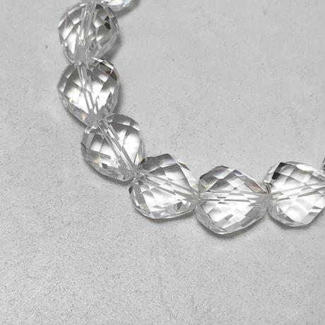 水晶ハートカット ブレスレット No.18685