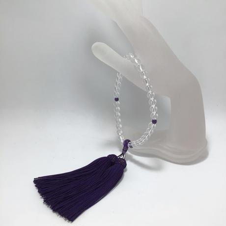 水晶、アメシスト数珠(女性用) No.55035