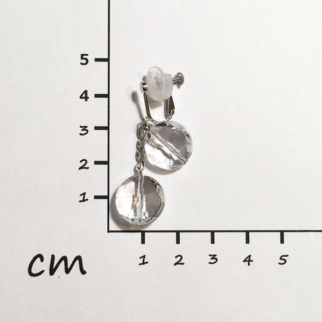 SV、水晶イヤリング No.36242