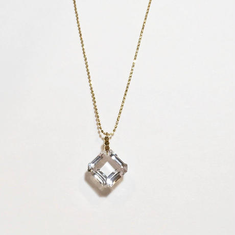 K18、水晶ペンダント