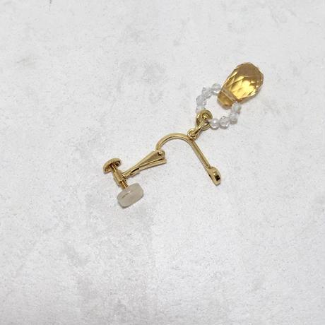 SV、黄水晶、ホワイトトパーズ イヤリング No.36240