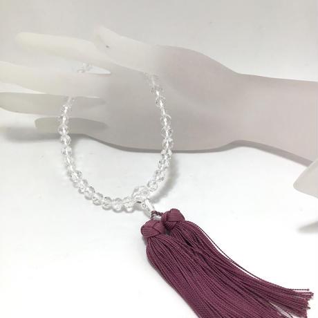 水晶数珠(女性用) No.55128