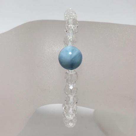 ラリマー、水晶 ブレスレット No.18795