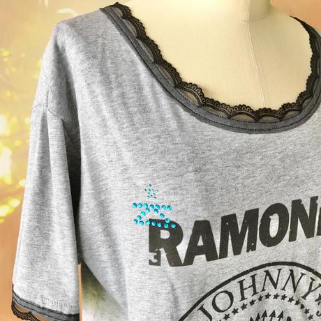 zechia MAKEOVER☆古着風ROCK-T / RAMONES ⑤