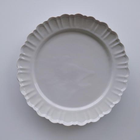 阿部慎太朗    マーガレットリム皿    8寸