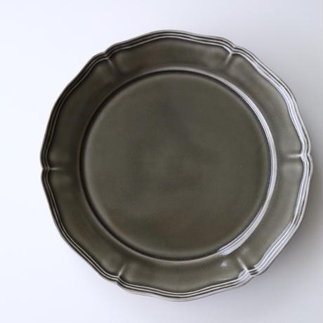 阿部慎太朗    花形リム皿    8寸