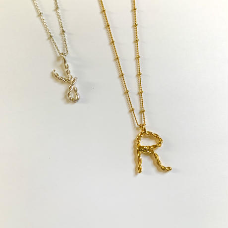 Initial necklace - long -