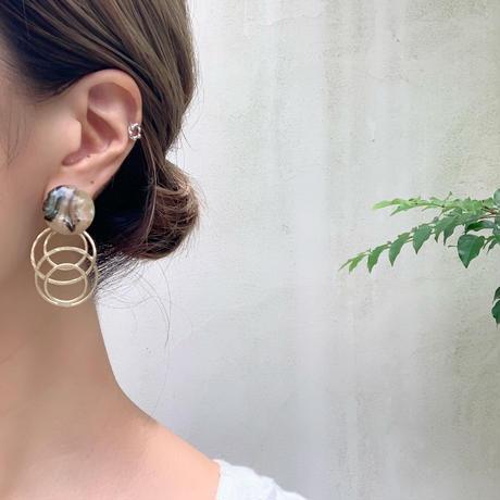 shell & matt gold pierce