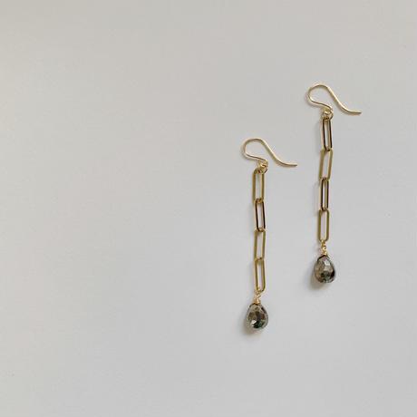 Pyrite pierce / earring