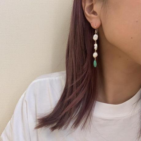 pearl & turquoise pierce