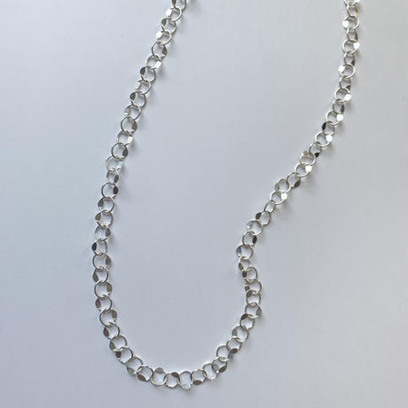 silver design chain necklace