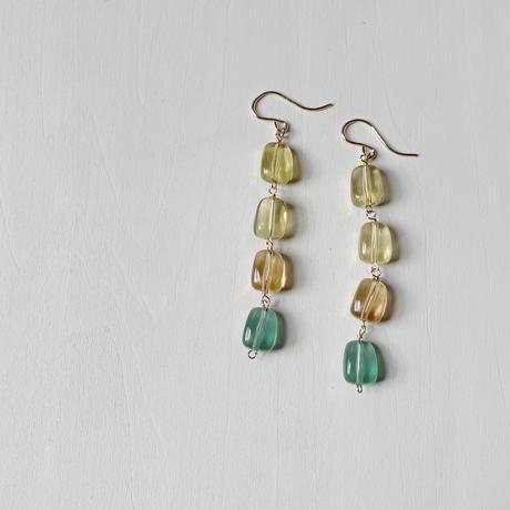 Glossy beads pierce / earring