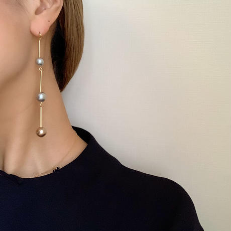vintage beads long pierce/earring
