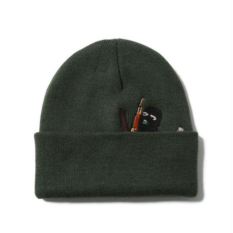 IN THE TRAP BEANIE (OLIVE) : GANGSTER DOODLES【CC17AW-033】