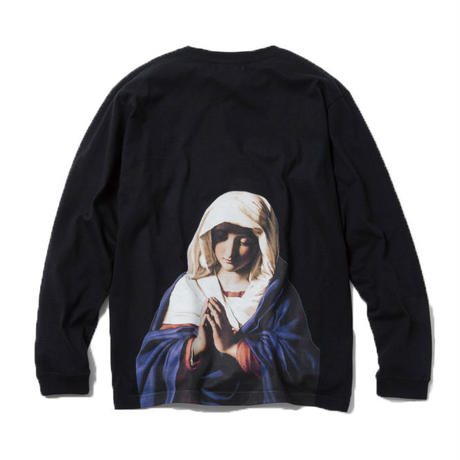 VIRGIN MARY LONG SLEEVE TSHIRT (BLACK)【CC18SS-015】