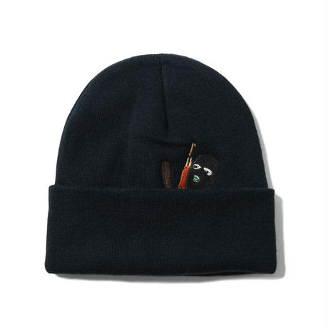 IN THE TRAP BEANIE (BLACK) : GANGSTER DOODLES【CC17AW-033】