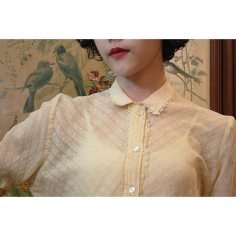 1970s  yellow blouse