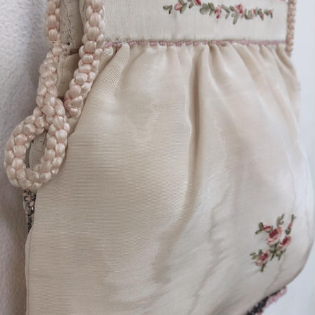 Edwardian hand embroidered bag