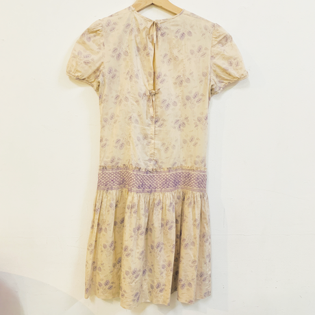 MARY QUANT ginger group smocked dress