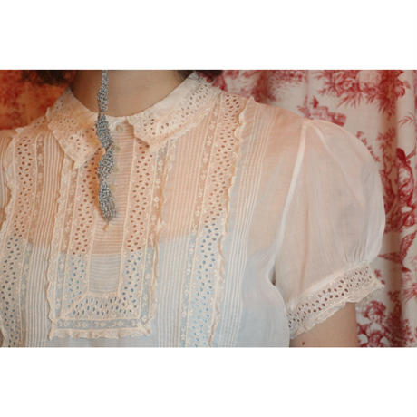 Antique cotton blouse