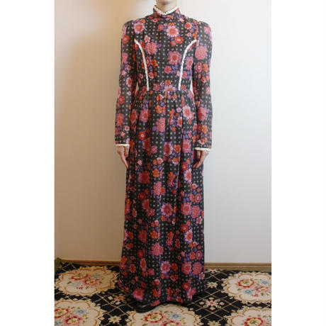 D525 1960's Marion Donaldson maxi dress