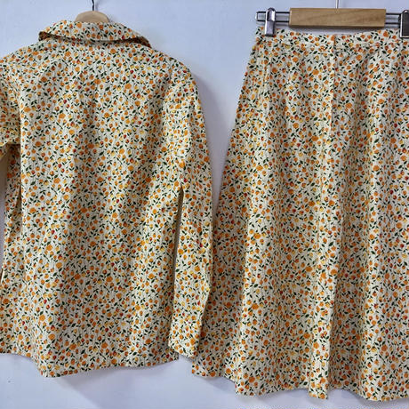 1970's Liberty floral print shirt +skirt