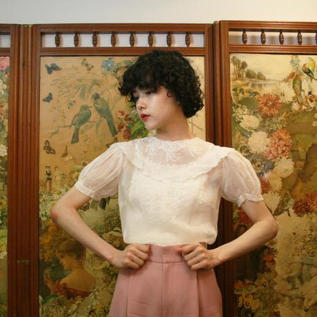 1930s organdy blouse