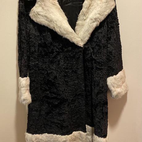 vintage fur coat  black/white