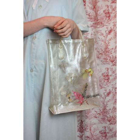 vintage vinyl bag (butterfly & flower)