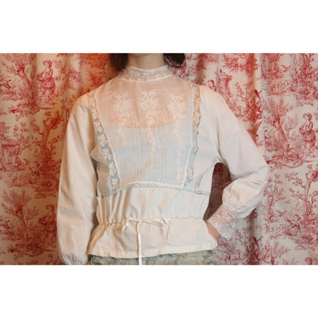 French l lace cotton blouse