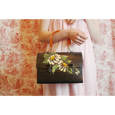 Floral painted bag (black)