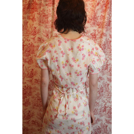 1940s floral slip and gown set-up
