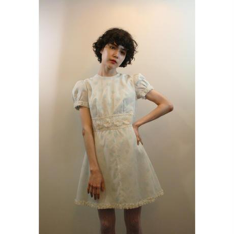 1960s Blue floral mini dress