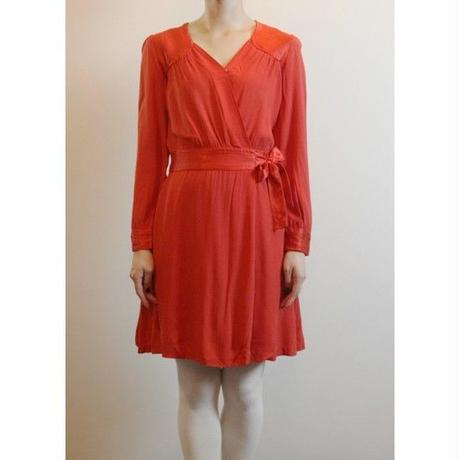 French Antique Red Dress