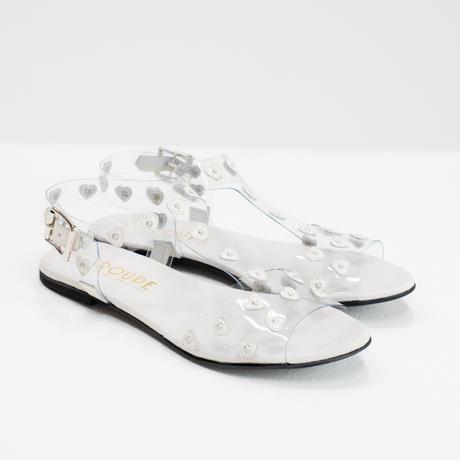 MJ005 - HEART PLASTIC - WHITE
