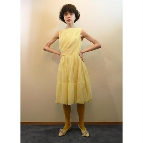 1950s yellow nylon dress