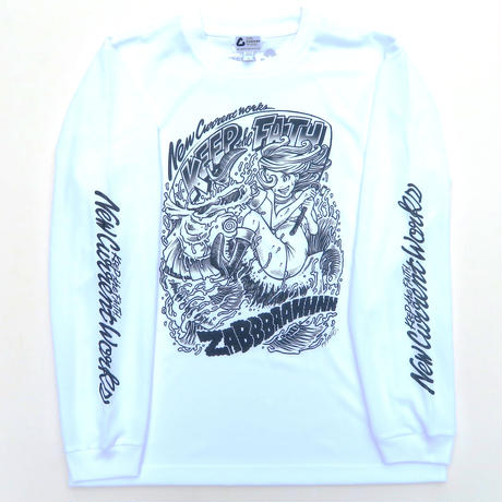COMIC GIRL DRY LONG Sleeve Tee【WHITE】