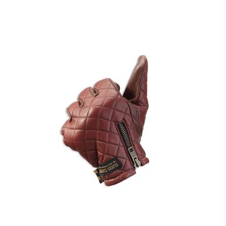 Leather glove / Bright red