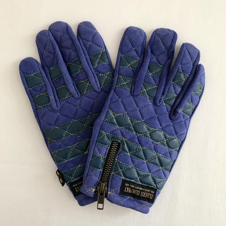 Leather glove / Blue × Blue