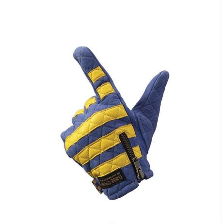 Leather glove / Blue x Yellow
