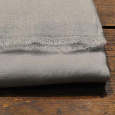 100%カシミア新色(ホワイトグレー ) 大判ストール(200cm×60cm)