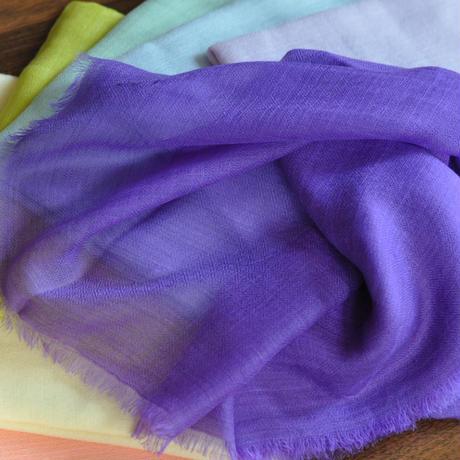 リングショール(夏用カシミア) ◆胡蝶紫 薄手サラサラ100%カシミア 大判ストール(200cm×60cm)