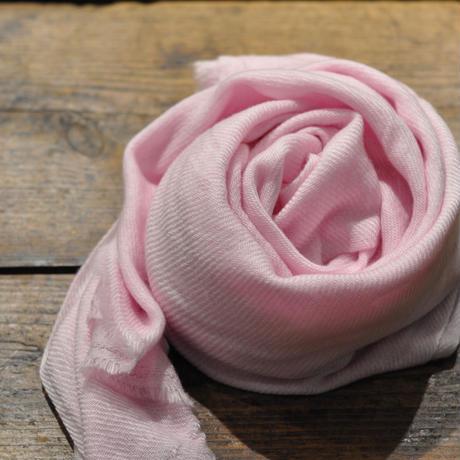 100%カシミア新色(淡いピンク ) 大判ストール(200cm×60cm)