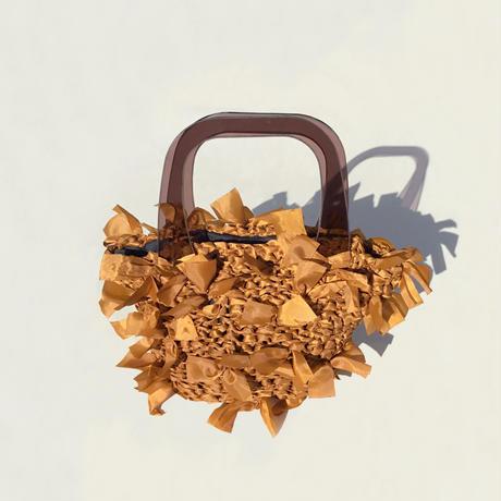 【NEW!!】basket bag / brown × brown