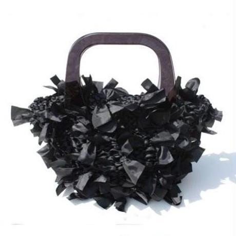 basket bag / black × black
