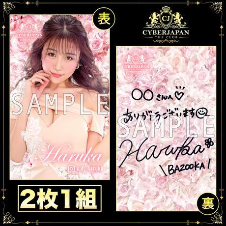 HARUKA直筆サイン入り仮想キャバ嬢名刺 2枚組セット vol.1
