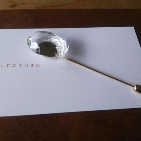 水晶のストールピン ハットピン 多目的用途ピン