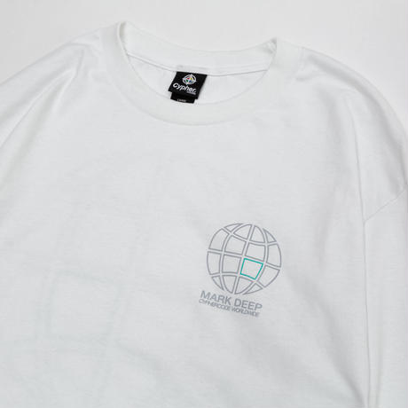 WORLD WIDE L/S TEE WHITE