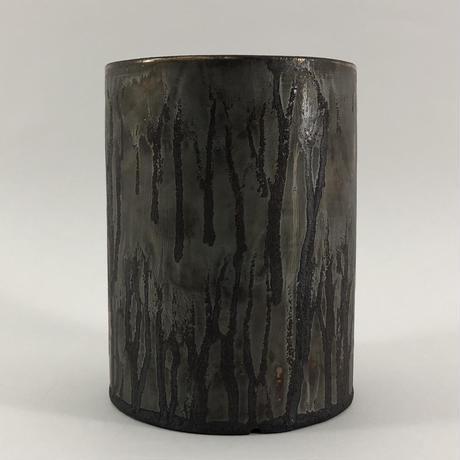 Roughness black cylinder pot(L)