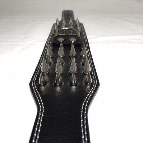 4ライン スパイクカラー ワイド ブラック色